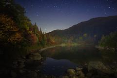 Autumn LakeStarry night (masahiro miyasaka) Tags: blue autumn nature beautiful japan night canon wonderful butterfly wonder outdoors iso3200 nice galaxy astrophotography  milkyway   earthandsky   Astrometrydotnet:status=failed eos5dmark