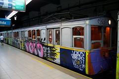 1913 Subway Car, No. 1 (Mike Sirotin) Tags: people streetart art southamerica argentina car subway graffiti buenosaires metro transport subte pantograph americasur lineaa subterraneodebuenosaires
