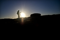 Photographer or Master Chief? (Nick P Lee) Tags: silhouette district derbyshire peak edge peaks curbar nicklee d7000 klauseggs