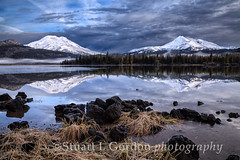 First Snow, Sparks Lake at Dawn_0031_32_33 (chasingthelight10) Tags: sky snow mountains nature oregon photography dawn landscapes events lakes places vistas sunrises brokentop southsister cascaderange sparkslake cascadeloophighway blinkagain