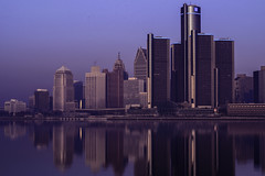 Morning Haze (Mike Swiech) Tags: morning reflection building fog sunrise river still haze foggy calm windsor hazey detroitriver detroitmichigan windsorontario detriot detroitskyline windsorontariocanada mikeswiech mikeswiechphotography