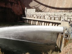 Nov. 19, 2012 Glen Canyon Dam Experiment (3) (Western Area Power Admin) Tags: grandcanyon coloradoriver western glencanyondam bureauofreclamation westernareapoweradministration nov192012 2012highflowexperiment