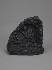 Carving made from coal (Birmingham Museum and Art Gallery) Tags: figure coal minersstrike birminghamhistorygalleries