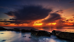 Atomic Bomb? (eggysayoga) Tags: bali cloud beach sunrise indonesia nikon tokina filter 09 nd atomic pantai graduated gnd 1116mm ketewel manyar d7000 leehard