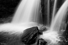 The Falls Out Back ([Chris Tennant]) Tags: bw ny newyork nature water monochrome contrast waterfall rocks hike flowing catskills platteclove christennantphotography