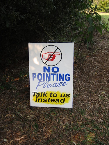 No pointing