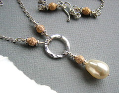 Trinity - Sold (Beguiled By The Bead) Tags: necklace ivory jewellery pearl sterlingsilver goldfilled