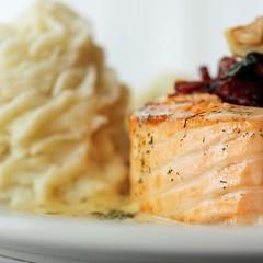 Baked Salmon Tornado (Amuse * Bouche) Tags: nyc irish food newyork restaurant queens stove astoria