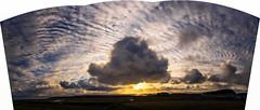 Fair Isle. Cumulus and altocumulus cumulogenitus originating from a number of earlier (small) cumulonimbus. Remains of decaying cumulonimbus to the south. (dawadderman) Tags: sea clouds cumulusmediocris cumulushumilis altocumuluscumulogenitus hydrometeors