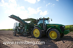 Tractor on a potato farm (Remsberg Photos) Tags: food plant tractor office potatoes factory action farm vegetable machinery potato ag processing agriculture tool rootvegetable farmequipment agribusiness officethings cropinsurance agriculturethings