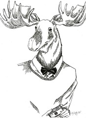 mooze (Viktor Sigh) Tags: original canada love animal illustration viktor pie book head chocolate lol 7 moose american sigh vadur