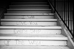 Love Steps (jhwill) Tags: bw love photography blackwhite michigan sony plymouth 24mm nex7 zeiss24mm18