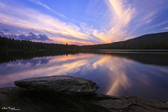 Looking West at North South Lake ([Chris Tennant]) Tags: park sunset lake ny newyork reflection twilight dusk catskills campground kaaterskill northsouthlake 5dmkii christennantphotography