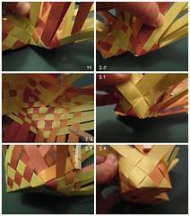 Heart Box Tutorial 4/6 (Dasssa) Tags: origami heart box weaving tutorial paperstrips dasssa