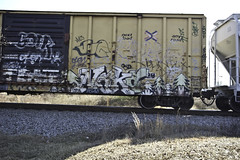 Naka  Plant Trees (Revise_D) Tags: railroad graffiti rails tagging freight lords revised naka plantrees planttrees fr8 benching fr8heaven fr8aholics