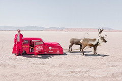Santa Claus is coming (Johannes Huwe) Tags: auto california christmas xmas old lake men car race speed reindeer utah sand shot wheels may dry racing hasselblad flats saltlake land hotrod santaclaus oldtimer medium format rocket speedy cinematic sled saltflats hdr bonneville rentier 2012 kalifornien elmirage scta rennwagen hodrod h3d landspeed h3d39 hc3590