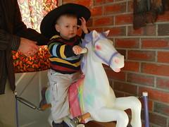 Leo on Kicker the horse
