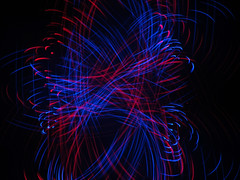 Knots (waruzm) Tags: christmas blue red lights led cameratoss icm intentionalcameramovement