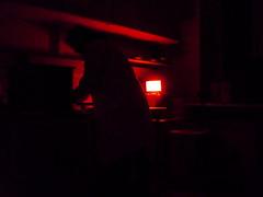 (Ben Gun) Tags: light red selfportrait labor hamburg experiment science selbstportrait versuch langzeitbelichtung longtimeexposure rotlicht selbstauslser antikrper antibody laboratoy panasonicdmcfs3
