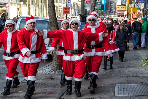 Santacon on 46th Street