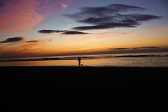 Running sunset (FezQ) Tags: sunset man beach liverpool running runner jogger merseyside formby
