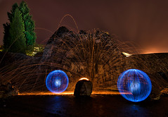 the-rock (Nils Blankenburg) Tags: lightpainting rock stone night fire nikon orb nils blankenburg lapp nikond7000