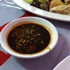 น้ำจิ้มข้าวมันไก่ | Chicken Rice Dipping Sauce @ ข้าวมันไก่นันทาราม 3 | Nantaram 3