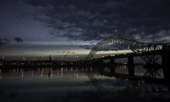 DSC02433-Edit (DSLR Lee) Tags: bridge light sunset sky cloud water night clouds dark landscape cheshire nightime waters waterside mersey runcorn merseyside widnes runcornbridge