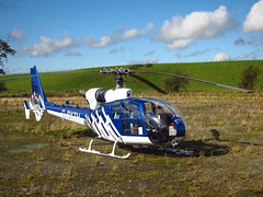 G-BXTH drops in again (ambo333) Tags: uk england helicopter cumbria gazelle westland brampton aerospatiale townfoot townfootindustrialestate sa341d westlandgazelle gbxth townfootpark townfootindest