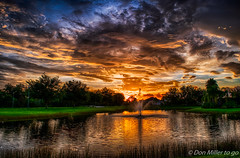 Florida Gold (DonMiller_ToGo) Tags: millerville hdr skypainter fountain sunsetsniper sunsetmadness sunsets nature hdrphotography 3xp goldenhour d5500 lake outdoors sky florida