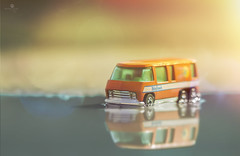 palm beach (rockinmonique) Tags: orange sun green beach yellow canon reflections toy miniature bokeh mini van tamron toycar moniquew