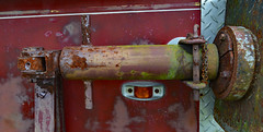 Don't Have a Clue (BKHagar *Kim*) Tags: bkhagar fireengine firetruck truck red rescue vehicle antique vintage rust rusty rusted iron metal metallic limestonefleamarket al alabama