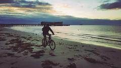 Sunrise Beach Rider (Ross Major) Tags: bike beach sand sea galaxy s6 gs6 sunrise