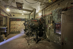 Projector Room (johnnyb053) Tags: projector movie goldenage theater film light room aged abandoned pa canon controls switches