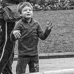 Dancing in the Rain !! (star79322) Tags: sydney steveroebuckphotography scene street city child boy rain dance blackandwhite 2016