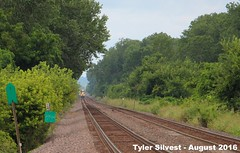 1/3 UP 7406 Leads WB Intermodal 8-12-16 (KansasScanner) Tags: up unionpacific railroad train bonnersprings kansas