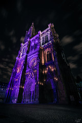 Cathedrale de Strasbourg (steinmetznicolas) Tags: 2016 alsace aout nuit strasbourg cathdrale cathedral france atelier5 night nightphotography longexposure poselongue light