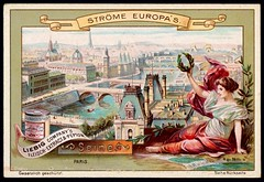 Liebig Tradecard S557 - The River Seine (cigcardpix) Tags: tradecards advertising ephemera vintage liebig chromo