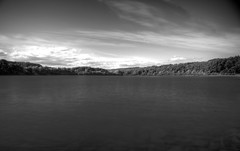 FEWSTON RESERVOIR (rockindave1) Tags: fewstonreservoir blackwhite water sky clouds reflection canoneos5dmark2 adobecs5 adobelightroom4