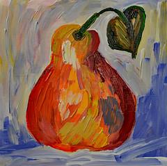 """""""Summer Pear"""" (BKHagar *Kim*) Tags: bkhagar art artwork painting paint acrylic pear fruit summerpear"""
