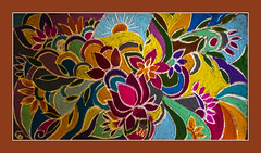 Welcome (रांगोळी ) (Ravi Prabhune) Tags: welcomecarpet carpet colourful festival india mostlysouthindia freehanddrawing ladies florrart bright beautiful workofart folkart rangoli रांगोळी