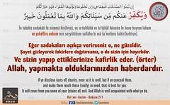 Kerim Kur'an 2-271 (Oku Rabbinin Adiyla) Tags: allah kuran islam ayet verse god religion bible muslim rahman irk jesus