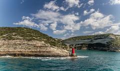 Seascape in Corse (salvatore zizi) Tags: sea seascape corrse corsica france francia mer mare panorama bonifacio bonifaciu scogliere nuvole clouds cielo sky bocche di spring colours colori nature ferry boat lighthouse farol faro salvatore zizi