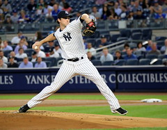 Yankees starter Bryan Mitchell delivers a pitch in the first inning. (apardavila) Tags: baseball bryanmitchell majorleaguebaseball mlb newyorkyankees sports yankeestadium