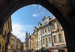 Mosteck (ManuelHurtado) Tags: countries places ancient architecture bohemia building cathedral charles church city cityscape czech dome europe european historic historical history house landmark monument old prague street tourism tower travel urban praga repblicacheca cz