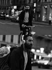 [La Mia Citt][Pedala] (Urca) Tags: milano italia 2016 bicicletta pedalare ciclista ritrattostradale portrait dittico bike bicycle nikondigitale mir biancoenero blackandwhite bn bw 88996