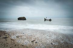 Rock and Groyne (Aaron James Rodgers) Tags: coastline corton leefilter nikond750 suffolk uk beach landscape longexposure sand sea seadefence stones woodengroyne