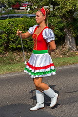 Traditional Hungarian harvest parade on september 11, 2016 in village Badacsony of Hungary. (digoarpi1) Tags: artist audience teen village badacsony clothes colorful costumes country harvest cultural culture dance entertaiment festival folk friendship friendshipdance heritage holiday hungarian international joy musical nation perform performance region show traditional travel hungary place editorial color decoration white red folkart black happiness fun people person fall autumn september balaton women majorette girl