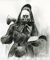 Carrie Nation (Caricature80) Tags: carrie nation carrienation temperance movement prohibition alcohol caricature portrait drawing sketch pencil graphite