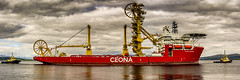 Ceona Amazon (Brian Travelling) Tags: red shi ship ceonaamazon amazon ceona marine maritime riverclyde firthofclyde undertow tugs tug scotland greenock vessel vehicle